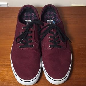 Vans Sneakers Burgundy Like new Mens 13